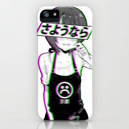 GOODBYE - Sad Japanese Anime Aesthetic iPhone Case