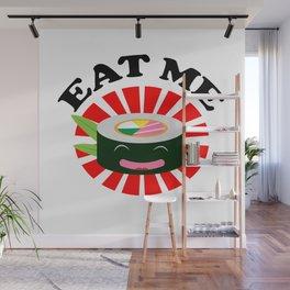 Eat Me Kawaii Sushi Wall Mural