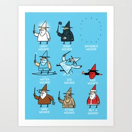 Know Your Wizards Art Print