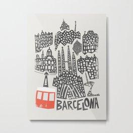 Barcelona Cityscape Metal Print