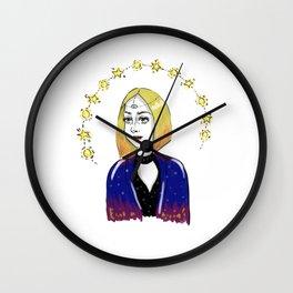 psychic girl Wall Clock