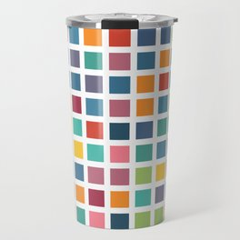 City Blocks - Subtle Rainbow #453 Travel Mug