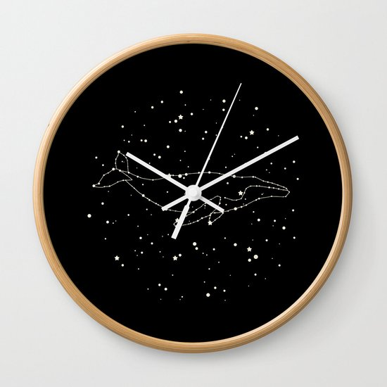 Whale Constellation Wall Clock