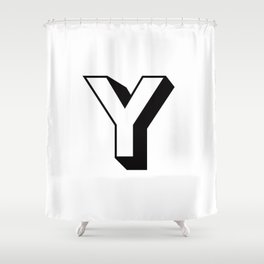 Letter Y ... As Easy As ... Shower Curtain
