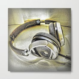 Headphones III Metal Print