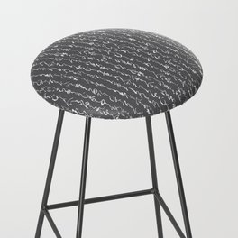 Ancient Japanese Calligraphy // Charcoal Bar Stool