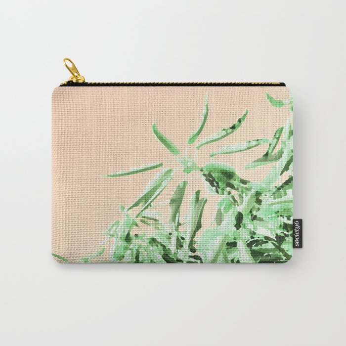 Green chestnut tree impressions Carry-All Pouch