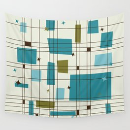 Mid-Century Modern (teal) Wall Tapestry