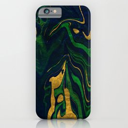 Rhapsody in Blue and Green and Gold iPhone Case