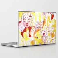 women Laptop & iPad Skins featuring Women by Clara López