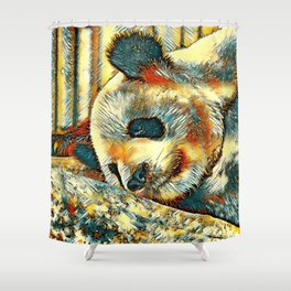 AnimalArt_Panda_20170810_by_JAMColors Shower Curtain