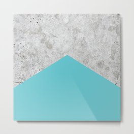 Concrete Arrow - Light Blue #206 Metal Print
