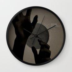 Hand's on the Moon Wall Clock