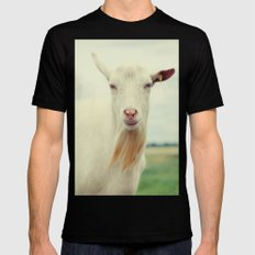 Goat Black Mens Fitted Tee X-LARGE