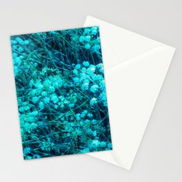 Blue-Green Compound Flower Stationery Cards