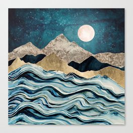 Indigo Sea Canvas Print