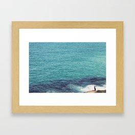 The Lone Man Framed Art Print