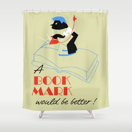 A bookmark would be better retro style Shower Curtain