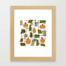 Halloween Mid Century Modern Framed Art Print