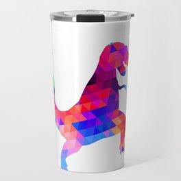 Geometric Pattern Trex print Gift Funny Dinosaur product Travel Mug