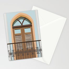 Old San Juan Balcony Illustration Stationery Cards