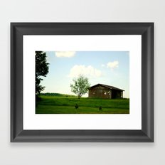The front-yard house  Framed Art Print