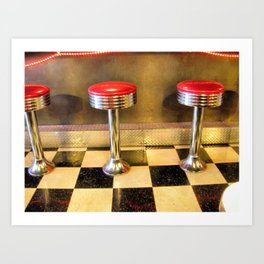 olde time stools Art Print