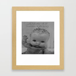 INTERNATIONAL DISEASE STOP HUMAN TRAFFICKING Framed Art Print