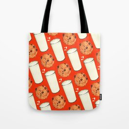 Milk & Cookies Pattern - Red Tote Bag