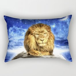 Grumpy Lion Rectangular Pillow
