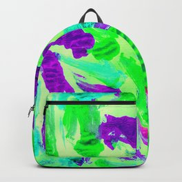 Foil Monoprint Green Backpack