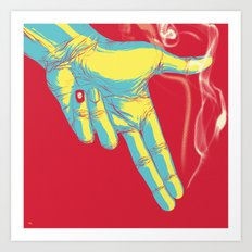 Rock, Paper, Scissors... Gun Always Wins Art Print