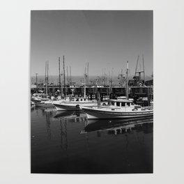 Boats At Fishermans Wharf San Francisco Poster