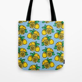 When life gives you lemons | Blue Tote Bag