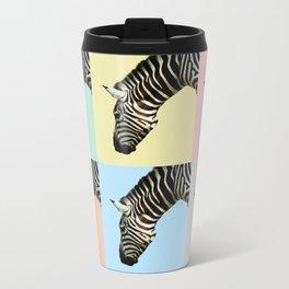 Zebra by Kokatu YELLOW Metal Travel Mug
