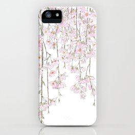 pink cherry blossom spring 2018 iPhone Case