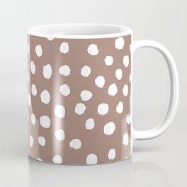 Painted dots - mocha, brown, earth tones, neutral, fall, october, painterly, earthy, boho Coffee Mug