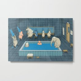 The Bathers Metal Print
