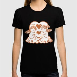 Valentine Cupids with Hearts T-shirt