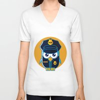police V-neck T-shirts featuring Police Bird by ArievSoeharto