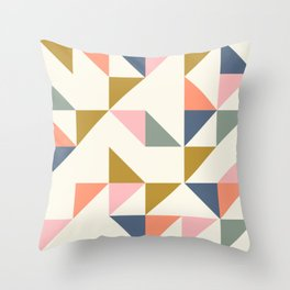 Floating Triangle Geometry Throw Pillow