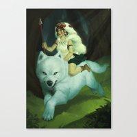 mononoke Canvas Prints featuring Mononoke by Luciana Nascimento