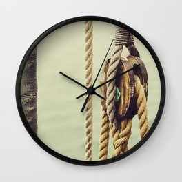 Nautical rigging Wall Clock