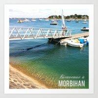 Morbihan Port Art Print