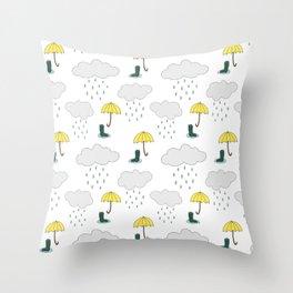 Rainy Day Pattern Throw Pillow