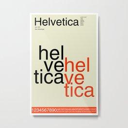 Helvetica Font Typography Metal Print