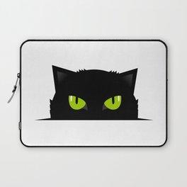 Black cat follow you #society6 #decor #buyart #artprint Laptop Sleeve