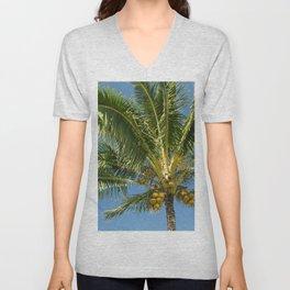 Hawaiian Coconut Palm Tree Unisex V-Neck