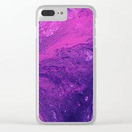 Pour Number 26:  Purple Haze Clear iPhone Case