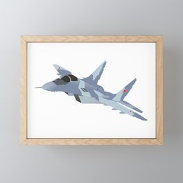 Russian Jet Fighter MiG-29 Framed Mini Art Print